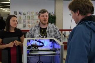 Lars Kollin brachte den wohl schwersten 3D-Drucker: den Leapfrog Creatr.