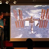 Die Internationale Raumstation.
