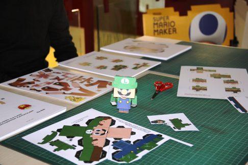 Luigi mit Papier nachbasteln