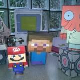mit Papercraft Nintendofiguren wie Luigi nachbasteln (Copyright Spieleratgeber NRW)