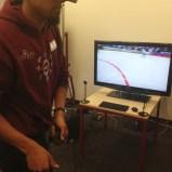 Alyn auf virtuellem Eis.