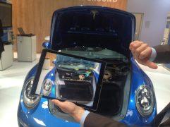 Augmented-Reality-Einblick per Tablet: Wo befinden sich die Schrauben des BAuteils und wie stark dürfen sie festgezogen werden?