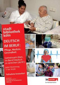 """Plakat """"Deutsch im Beruf"""" Pflege, Medizin, Gesundheit"""
