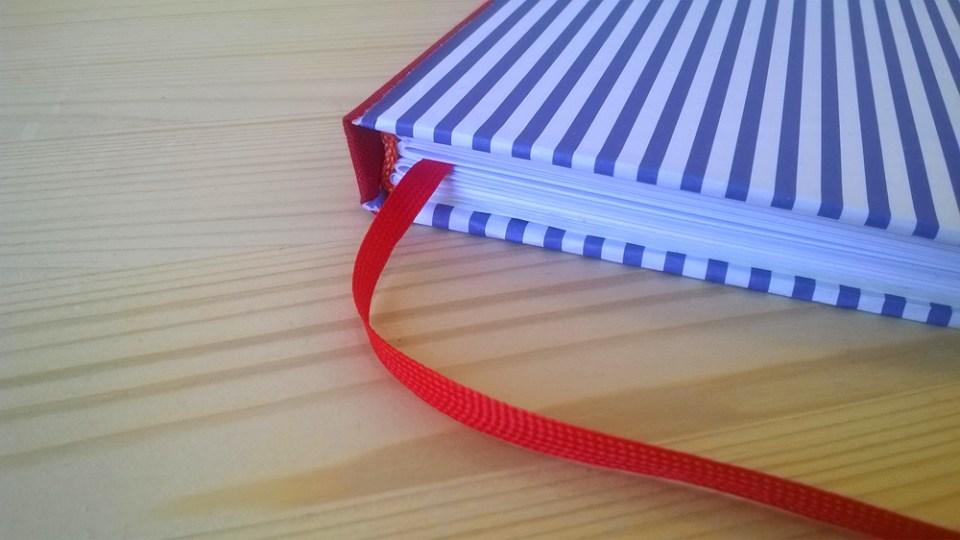 Foto von einem selbstgebundenen Buch