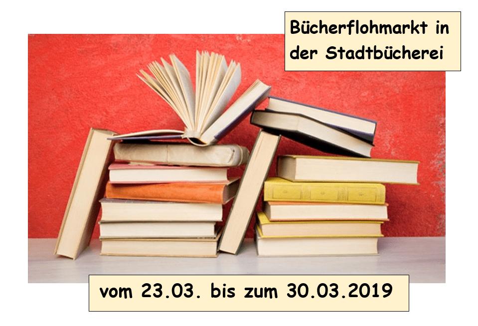 Bücherflohmarkt im März