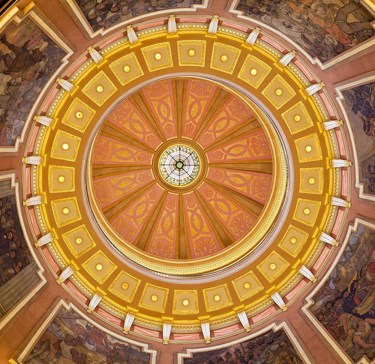 Die Kuppel von unten