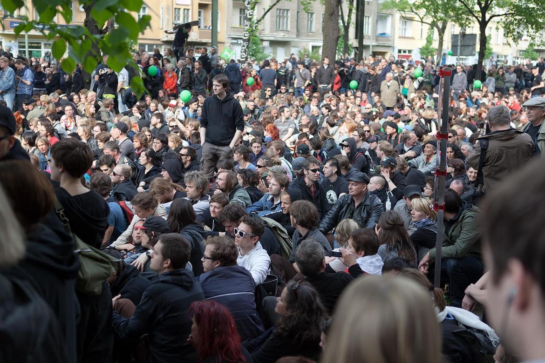 Blockierer im Beitrag Berlin, 1. Mai