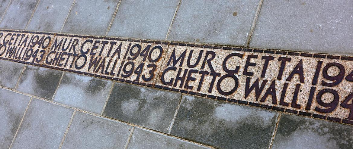 Verkauf der Mauer im Warschauer Ghetto