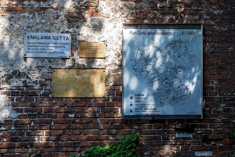 Die Mauer des Warschauer Ghettos auf der Seite Stadterkundung.com
