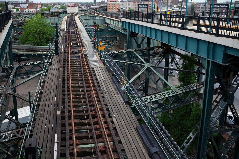 Hochbahn von oben im Beitrag New York City: Elevated Subway auf der Seite Staderkundung.com