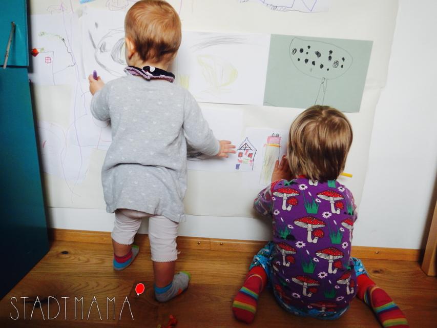 Kinderzimmer Idee kreative Wand