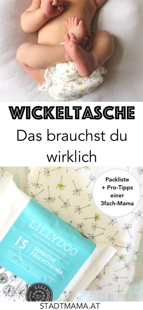 Was gehört alles in eine Wickeltasche? Weniger, als man denkt! Am Blog findet ihr die ultimative Packliste für die Basic-Wickeltasche und Wickeltasche für Kleinkinder inklusive Pro-Tipps zum Packen der Wickeltasche. (LILLYDOO/Werbung)