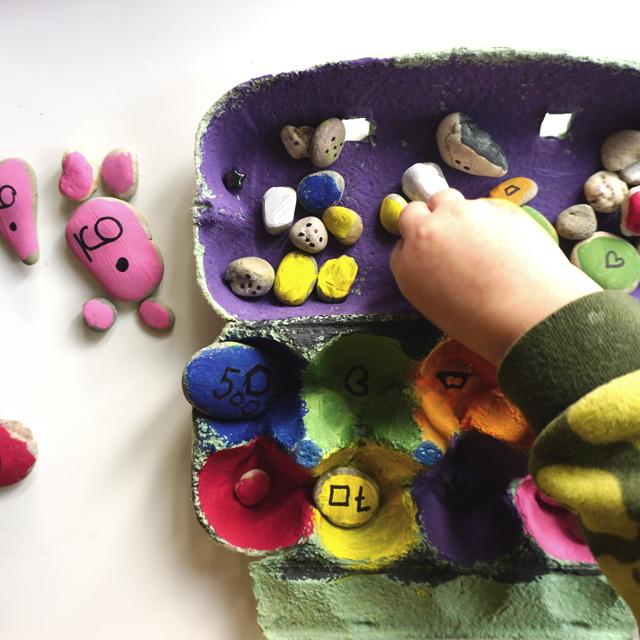 DIY montessori lernspiel