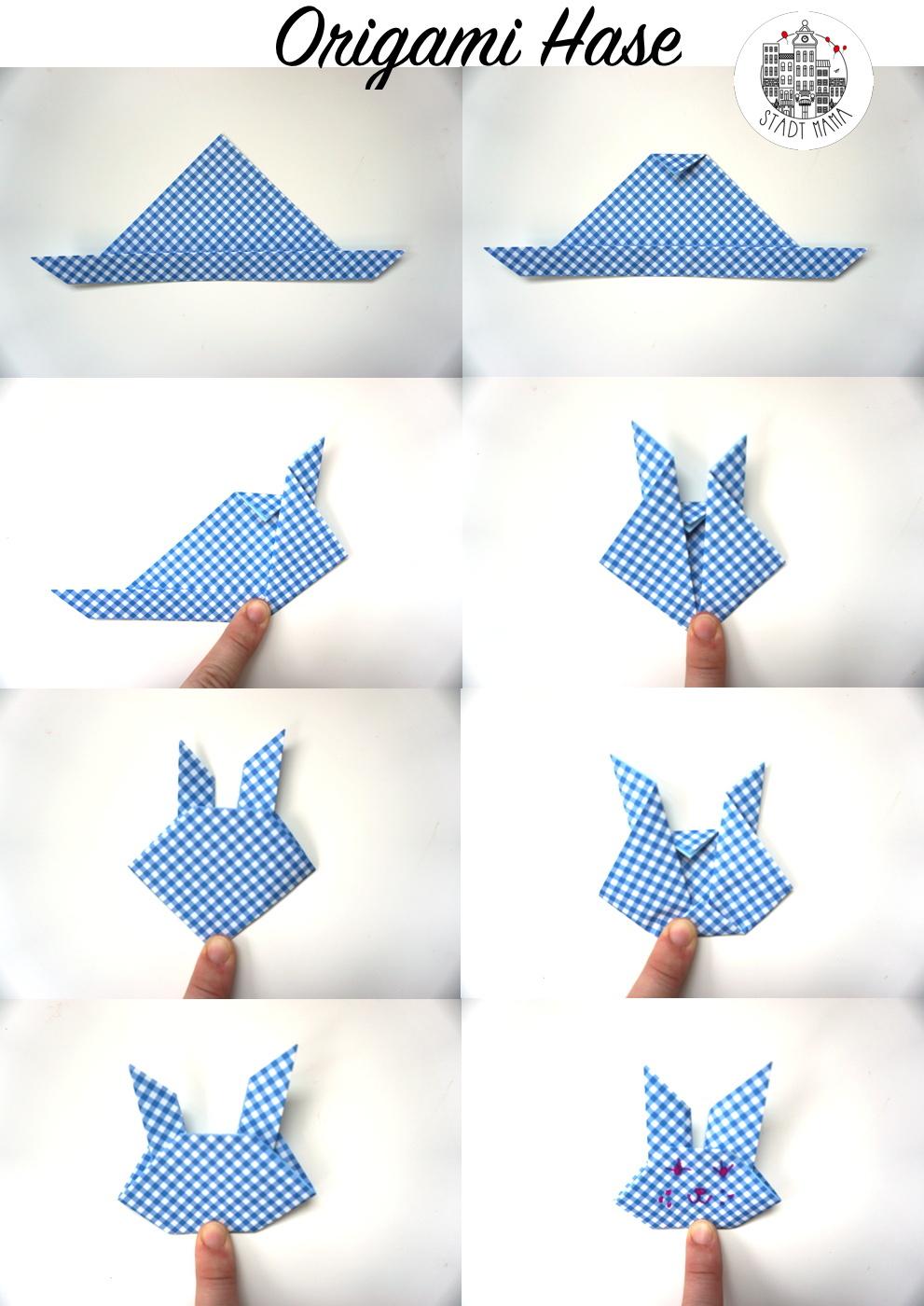 origami hase für kinder