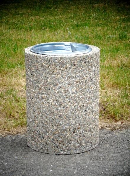 Abfallbehälter aus Beton KB-17
