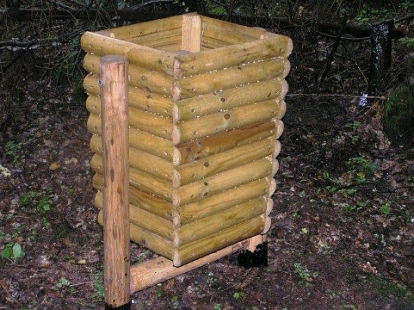 Abfallbehälter aus Holz KO-13