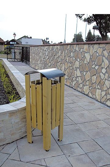 Abfallbehälter aus Holzelementen KO-22