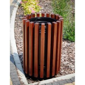 Abfallbehälter aus Holzelementen KO-45
