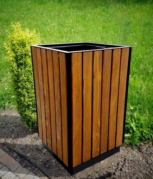 Abfallbehälter aus Holzelementen KO-46
