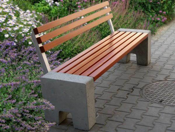 Sitzbank aus Beton L-88