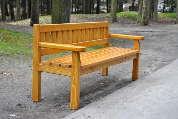 Sitzbank aus Holz L-110a