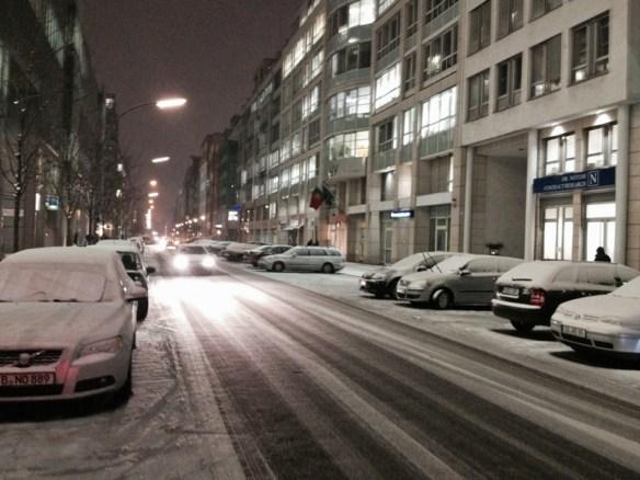 Kein Fahrradfahrer in Sicht: die Zimmerstraße in Kreuzberg