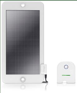 Solar-Panel und Akku
