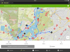 Radtour von Wansee zur Meierei in Potsdam und über Spandau zurück nach Wannsee