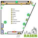 Der Lageplan zum Stadtrasen 2014