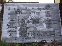 Hofansicht von Stadtraumnutzung mit Kommentaren aus dem Kiez