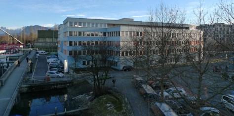 Hochschule Luzern, Departement Soziale Arbeit, Werftestrasse 4 (Januar 2015, eigene Aufnahme)