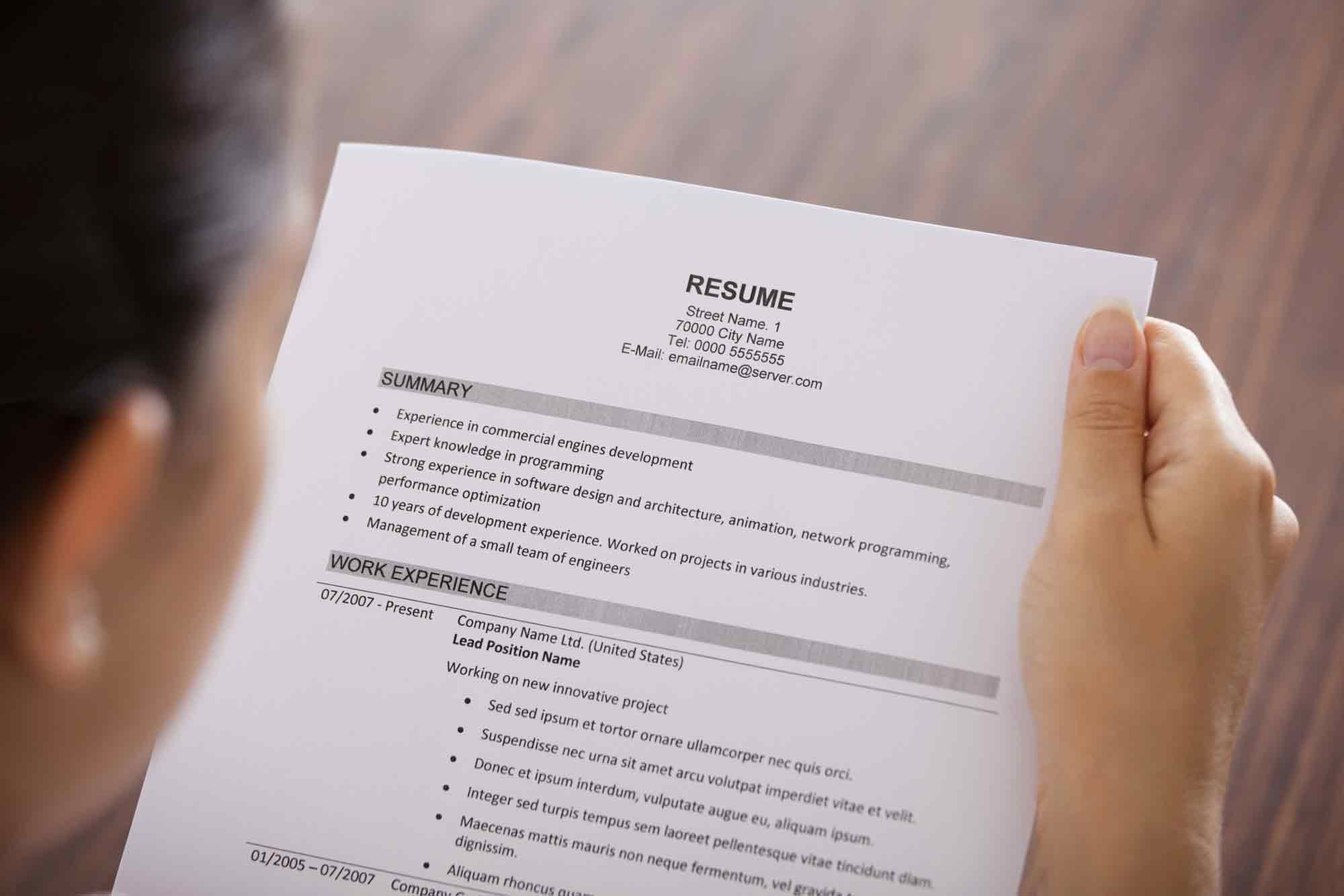 How To Make Resume Paper Resume Tips From Top Houston Temp Agencies Staff Force