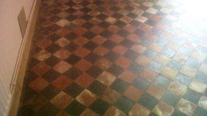 Victorian Quarry Tiled Floor Restored In Leek