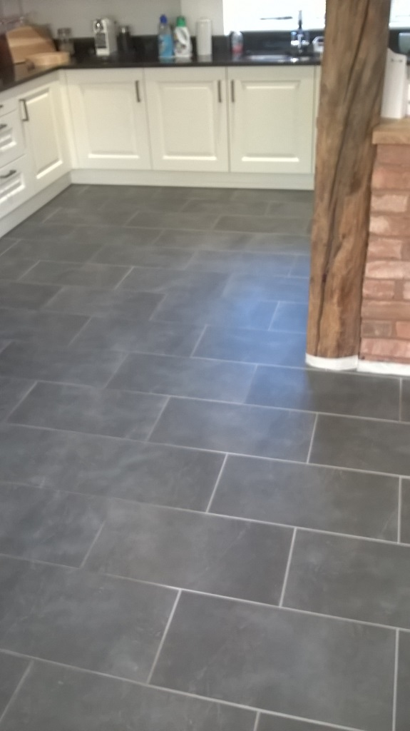 slate floor kitchen small kitchens designs stone cleaning and polishing tips for floors tiles in burton on trent before