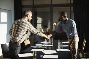 hiring photo with handshake
