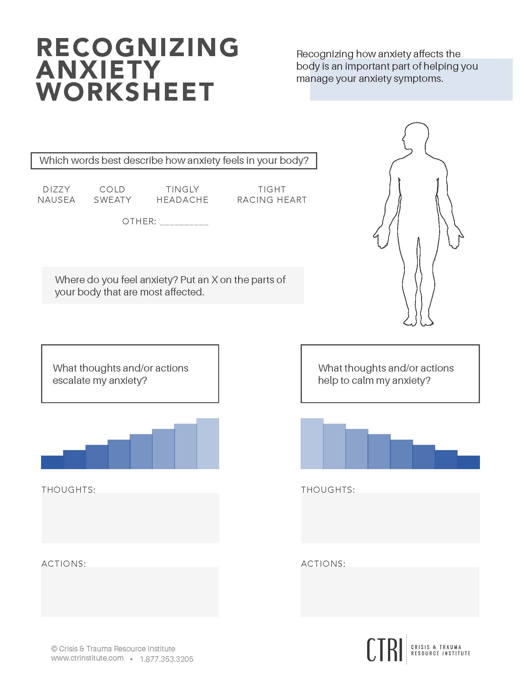 Recognizing Anxiety Worksheet