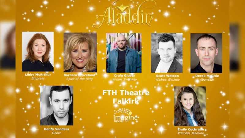 Falkirk FTH Theatre 2019 Aladdin panto cast