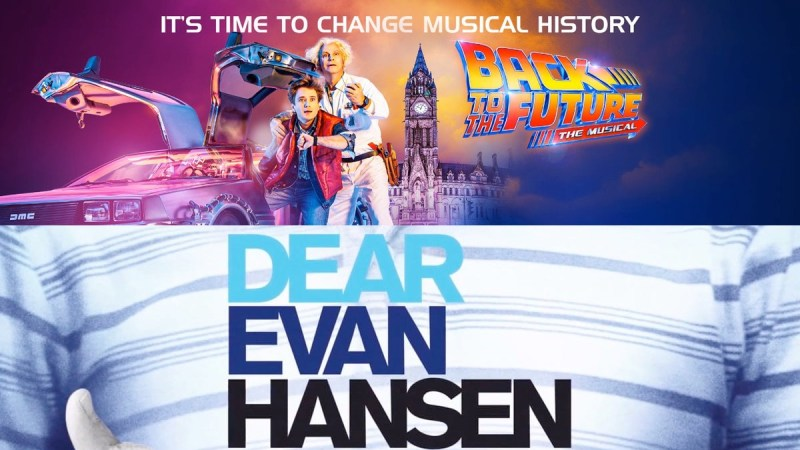 dear evan hansen back to the future musical b