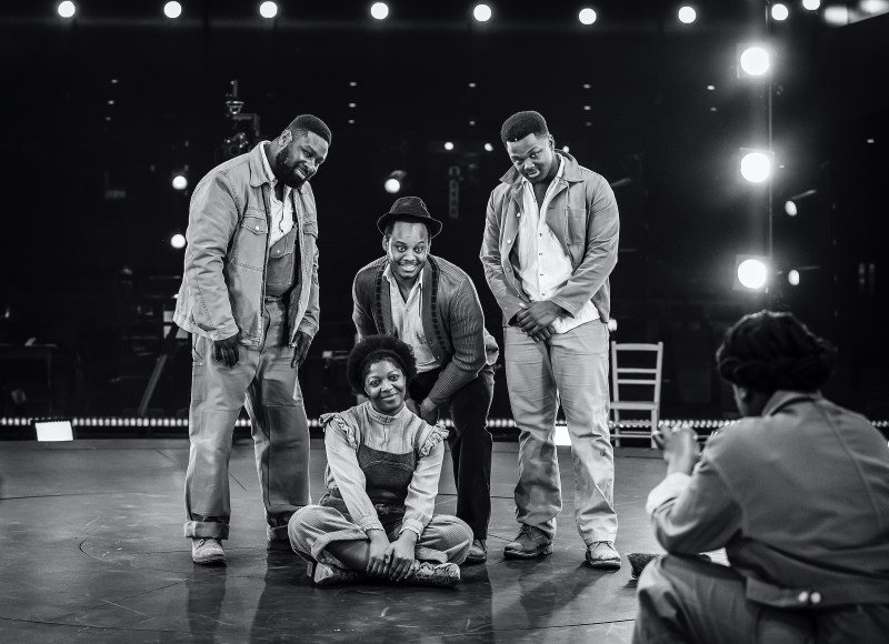 Clockwise from Left - KM Drew Boateng, Simon-Anthony Rhoden, Owen Chaponda and T'Shan Williams_The Color Purple - at Home. Photography by Pamela Raith