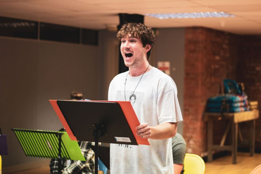 Aidan Harkins, From Here rehearsals. Picture credit: Lucy Gray.