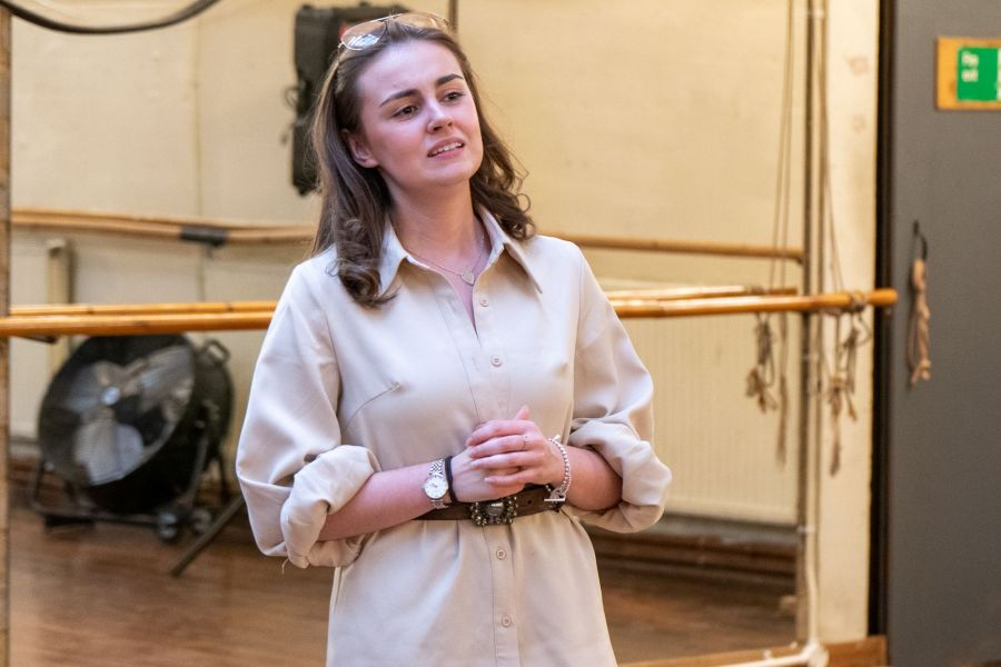 Georgia Lennon, Lady Chatterley's Lover rehearsals (credit Bonnie Britain) 1