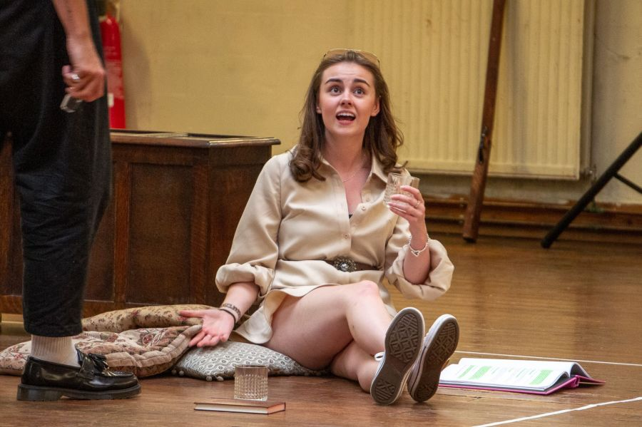 Georgia Lennon, Lady Chatterley's Lover rehearsals (credit Bonnie Britain)