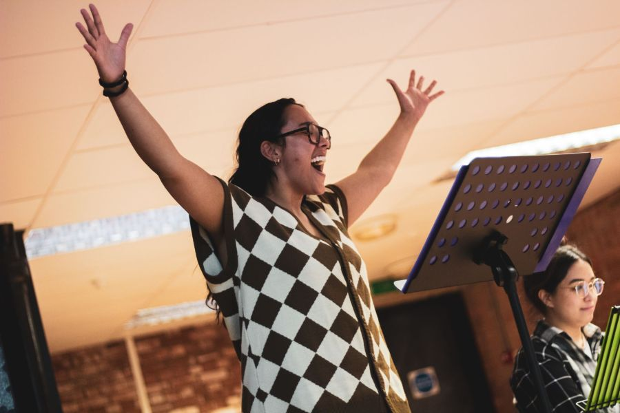 Grace Mouat, From Here rehearsals, credit Lucy Gray (06)