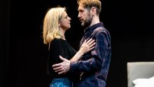Kerrie Taylor and Paul McGann, Bad Nights and Odd Days rehearsals, Greenwich Theatre