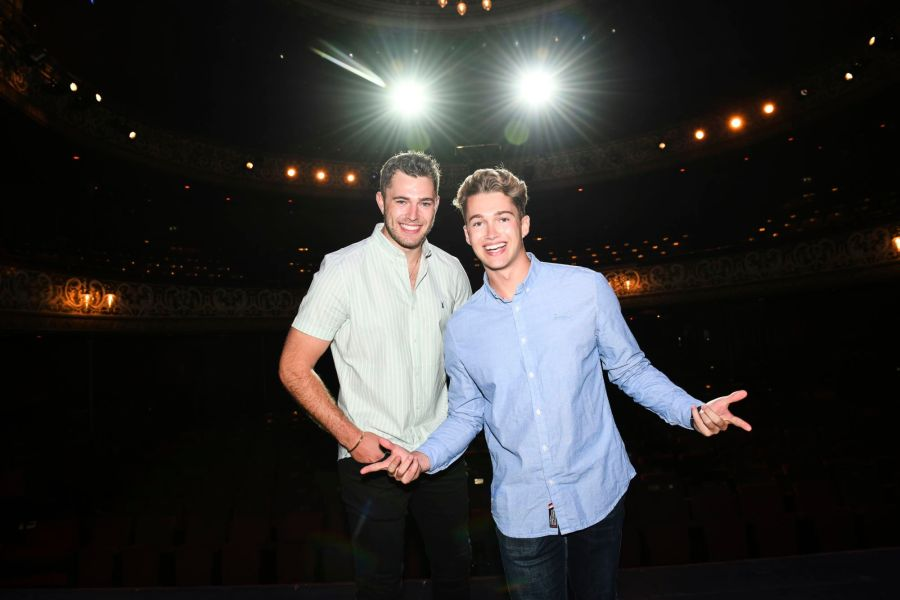 Curtis and AJ Pritchard at Wolverhampton Grand Theatre in Cinderella from 4 December 2021 - Photograph by Alex Styles