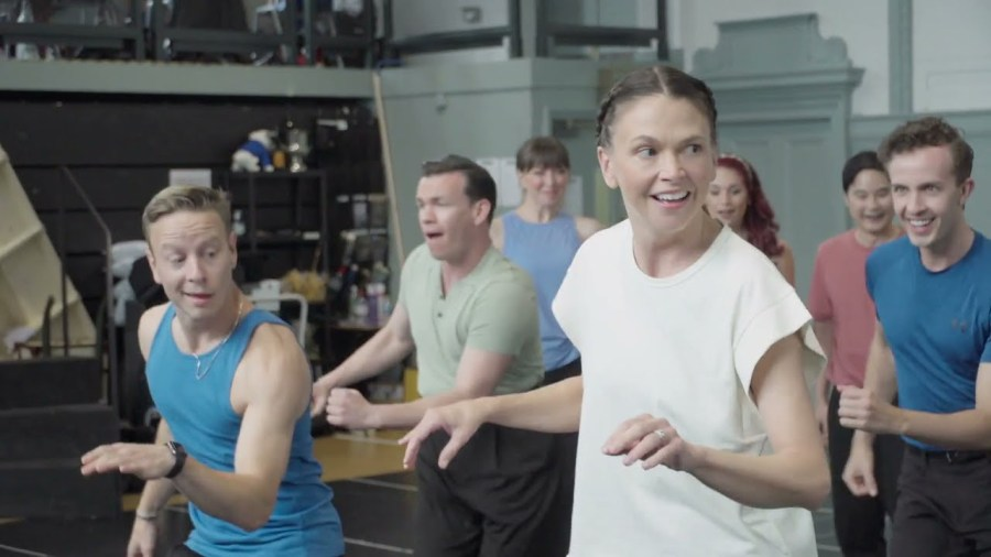 anything goes rehearsals