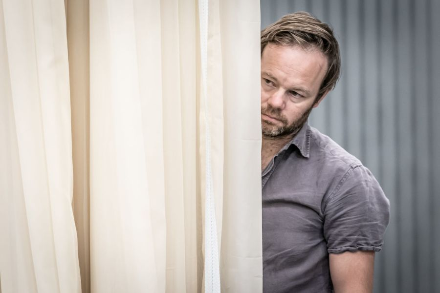 011 Sam Alexander in Cat on a Hot Tin Roof rehearsals. Photo by Marc Brenner