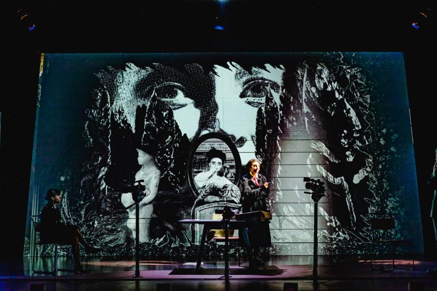 Adela Rajnovic & Riana Duce - imitating the dog & Leeds Playhouse - Dracula The Untold Story - Photo Ed Waring
