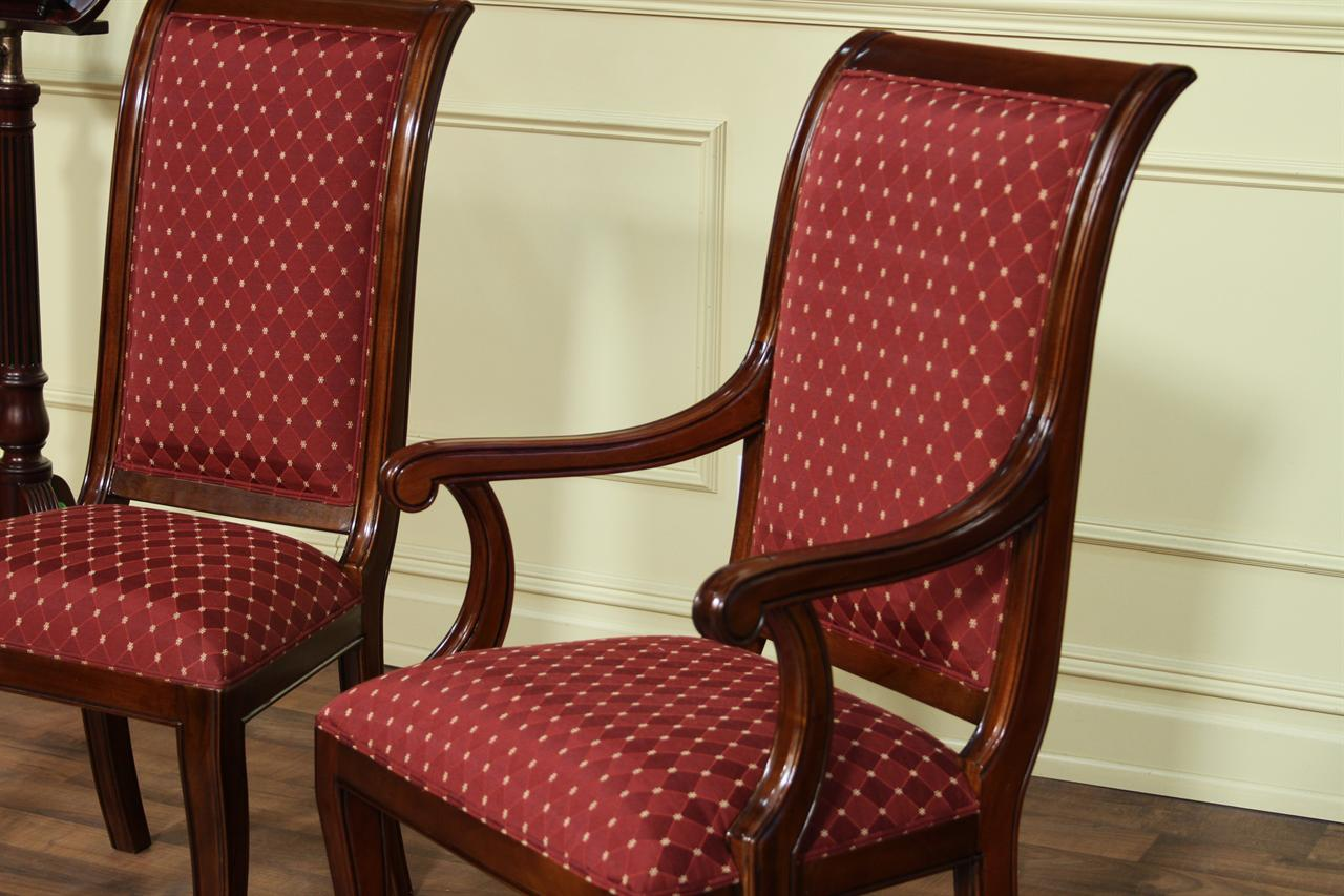 Upholstered Dining Chairs Modern Upholstered Dining Room Chairs With Arms Home