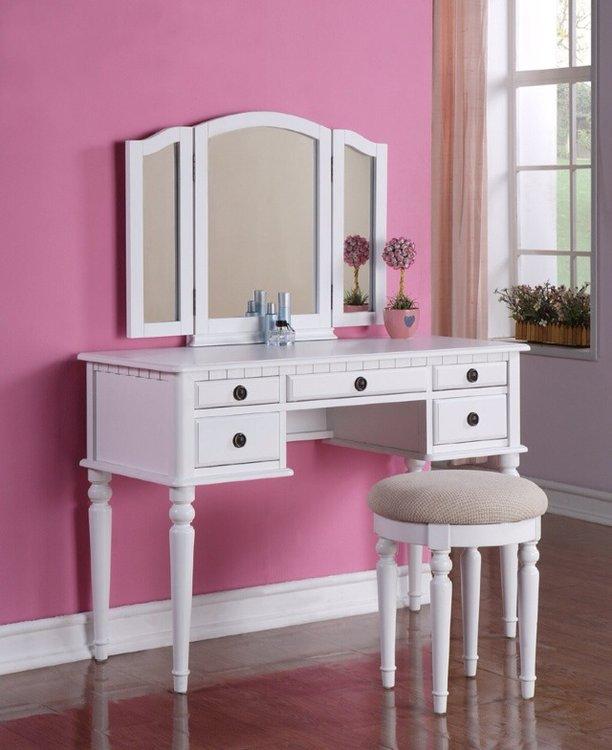 Makeup Desk With Mirror  Home Furniture Design